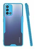 Eiroo Painted Oppo A74 Mavi Silikon Kılıf