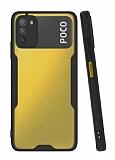 Eiroo Painted Xiaomi Poco M3 Kamera Korumalı Siyah Kılıf