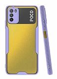 Eiroo Painted Xiaomi Poco M3 Kamera Korumalı Mor Kılıf