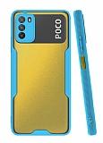 Eiroo Painted Xiaomi Poco M3 Kamera Korumalı Mavi Kılıf