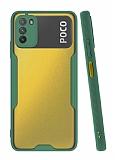 Eiroo Painted Xiaomi Poco M3 Kamera Korumalı Yeşil Kılıf