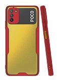 Eiroo Painted Xiaomi Poco M3 Kamera Korumalı Kırmızı Kılıf