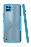 Eiroo Painted Realme C21 Kamera Korumalı Mavi Silikon Kılıf