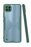 Eiroo Painted Realme C21 Kamera Korumalı Yeşil Silikon Kılıf