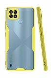 Eiroo Painted Realme C21 Kamera Korumalı Sarı Silikon Kılıf