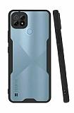 Eiroo Painted Realme C21 Kamera Korumalı Siyah Silikon Kılıf