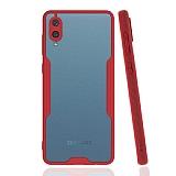 Eiroo Painted Samsung Galaxy A02 Kamera Korumalı Kırmızı Kılıf
