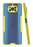 Eiroo Painted Xiaomi Poco X3 Kamera Korumalı Sarı Kılıf
