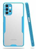 Eiroo Painted Samsung Galaxy A32 4G Kamera Korumalı Mavi Kılıf