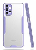 Eiroo Painted Samsung Galaxy A32 4G Kamera Korumalı Mor Kılıf