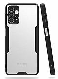 Eiroo Painted Samsung Galaxy A32 4G Kamera Korumalı Siyah Kılıf