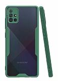 Eiroo Painted Samsung Galaxy A51 Yeşil Silikon Kılıf