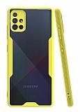 Eiroo Painted Samsung Galaxy A51 Sarı Silikon Kılıf