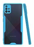 Eiroo Painted Samsung Galaxy A51 Mavi Silikon Kılıf