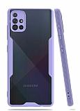 Eiroo Painted Samsung Galaxy A51 Mor Silikon Kılıf