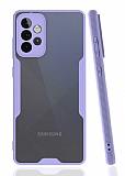 Eiroo Painted Samsung Galaxy A72 Kamera Korumalı Mor Kılıf