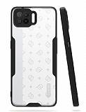 Eiroo Painted Oppo A73 Kamera Korumalı Siyah Kılıf