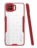 Eiroo Painted Oppo A73 Kamera Korumalı Kırmızı Kılıf