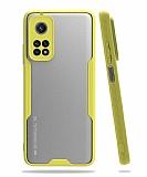 Eiroo Painted Xiaomi Mi 10T / Mi 10T Pro Kamera Korumalı Sarı Kılıf