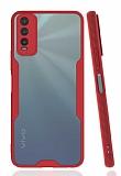 Eiroo Painted vivo Y20 Kırmızı Silikon Kılıf