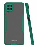 Eiroo Painted Samsung Galaxy A12 Kamera Korumalı Yeşil Kılıf