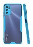 Eiroo Painted Xiaomi Redmi Note 10 5G Mavi Silikon Kılıf