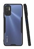 Eiroo Painted Xiaomi Redmi Note 10 5G Siyah Silikon Kılıf