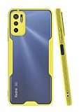 Eiroo Painted Xiaomi Redmi Note 10 5G Sarı Silikon Kılıf