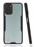 Eiroo Painted Xiaomi Redmi Note 10 Kamera Korumalı Siyah Kılıf