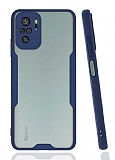 Eiroo Painted Xiaomi Redmi Note 10 Kamera Korumalı Lacivert Kılıf