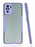 Eiroo Painted Xiaomi Redmi Note 10 Kamera Korumalı Mor Kılıf