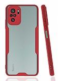 Eiroo Painted Xiaomi Redmi Note 10 Kamera Korumalı Kırmızı Kılıf