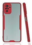 Eiroo Painted Xiaomi Redmi Note 10S Kamera Korumalı Kırmızı Kılıf