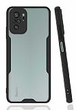 Eiroo Painted Xiaomi Redmi Note 10S Kamera Korumalı Siyah Kılıf