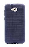 Eiroo Panther Asus Zenfone 4 Selfie ZD553KL Silikon Kenarlı Siyah Rubber Kılıf