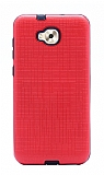 Eiroo Panther Asus Zenfone 4 Selfie ZD553KL Silikon Kenarlı Kırmızı Rubber Kılıf