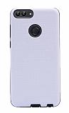 Eiroo Panther Huawei P Smart Silikon Kenarlı Beyaz Rubber Kılıf