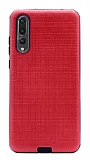 Eiroo Panther Huawei P20 Pro Silikon Kenarlı Kırmızı Rubber Kılıf