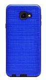 Eiroo Panther Samsung Galaxy J4 Core Silikon Kenarlı Lacivert Rubber Kılıf