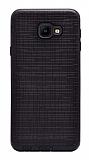 Eiroo Panther Samsung Galaxy J4 Core Silikon Kenarlı Siyah Rubber Kılıf