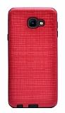 Eiroo Panther Samsung Galaxy J4 Core Silikon Kenarlı Kırmızı Rubber Kılıf