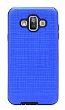 Eiroo Panther Samsung Galaxy J7 Duo Silikon Kenarlı Lacivert Rubber Kılıf