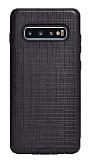 Eiroo Panther Samsung Galaxy S10e Silikon Kenarlı Siyah Rubber Kılıf