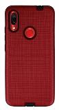 Eiroo Panther Xiaomi Redmi Note 7 / Note 7 Pro Silikon Kenarlı Kırmızı Rubber Kılıf