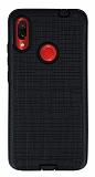 Eiroo Panther Xiaomi Redmi Note 7 / Note 7 Pro Silikon Kenarlı Siyah Rubber Kılıf