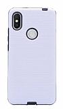 Eiroo Panther Xiaomi Redmi S2 Silikon Kenarlı Beyaz Rubber Kılıf