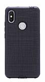 Eiroo Panther Xiaomi Redmi S2 Silikon Kenarlı Siyah Rubber Kılıf