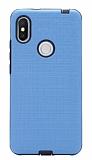 Eiroo Panther Xiaomi Redmi S2 Silikon Kenarlı Mavi Rubber Kılıf