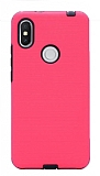 Eiroo Panther Xiaomi Redmi S2 Silikon Kenarlı Pembe Rubber Kılıf
