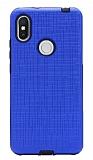 Eiroo Panther Xiaomi Redmi S2 Silikon Kenarlı Lacivert Rubber Kılıf